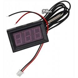 Термометр в корпусе, встраиваемый с выносной термопарой, красный