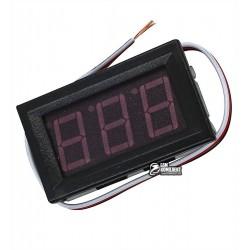 Вольтметр цифровой 0-100V встраиваемый синий, три провода