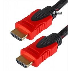Кабель HDMI в HDMI, 5 метров, в оплетке