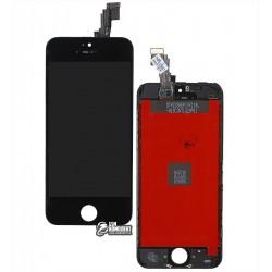 Дисплей iPhone 5C, черный, с сенсорным экраном (дисплейный модуль), с рамкой, copy