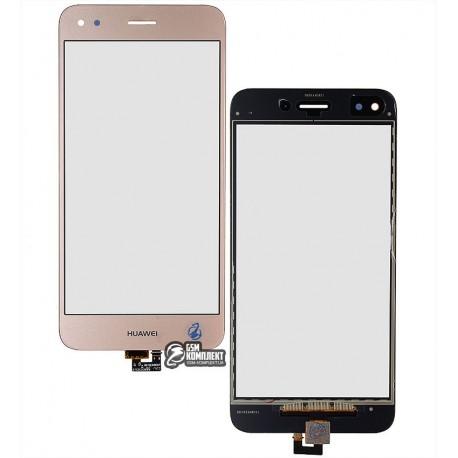 Тачскрин для Huawei Nova Lite (2017), P9 Lite mini, Y6 Pro (2017), золотистый