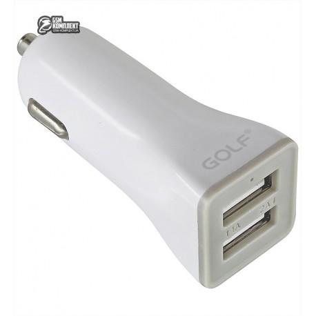 Автомобильное зарядное устройство Golf GF-C2, USB