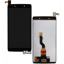 Дисплей для Alcatel One Touch 6039Y Idol 3 mini LTE, черный, с сенсорным экраном (дисплейный модуль)
