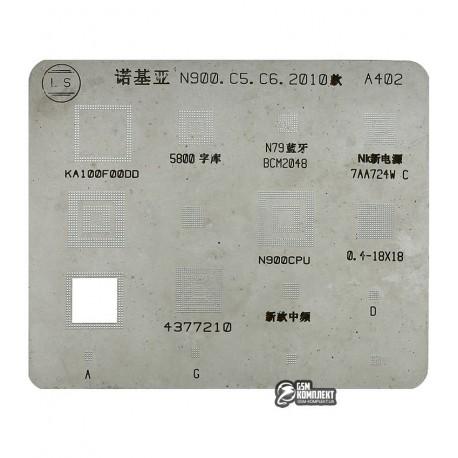BGA трафарет A402, Nokia N900, C6, C5,