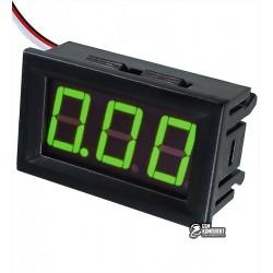 Вольтметр цифровой 0-30V встраиваемый зеленый, три провода