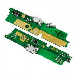 Шлейф для Lenovo A859, коннектора зарядки, с компонентами, плата зарядки