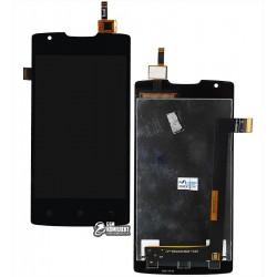 Дисплей для Lenovo A1000 , черный, с сенсорным экраном (дисплейный модуль)