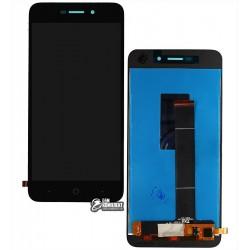 Дисплей для ZTE Blade A601, черный, с сенсорным экраном (дисплейный модуль)