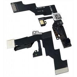 Шлейф для Apple iPhone 6S Plus, c датчиком приближения, с камерой, с микрофоном
