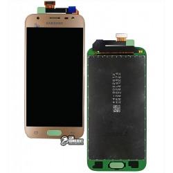 Дисплей для Samsung J330F Galaxy J3 (2017), золотистый, с сенсорным экраном (дисплейный модуль), original (PRC)