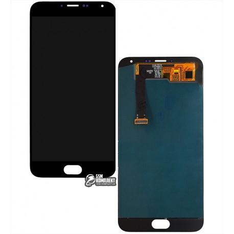 Дисплей для Meizu MX5e, черный, с сенсорным экраном (дисплейный модуль), original (PRC)