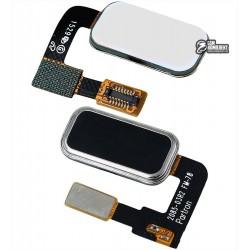 Шлейф для Lenovo Vibe P1, кнопки меню, черный, с компонентами