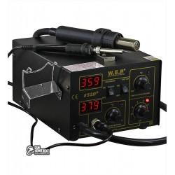 Термовоздушная паяльная станция WEP 852D+ компрессорная, фен, паяльник
