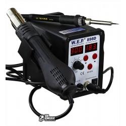 Термовоздушная паяльная станция WEP 898D фен, паяльник
