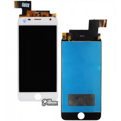 Дисплей для Prestigio MultiPhone 7501 Duo Grace R7, белый, с сенсорным экраном (дисплейный модуль)