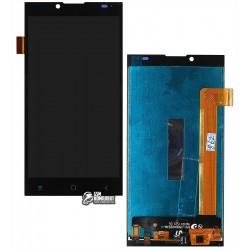 Дисплей для Prestigio MultiPhone 5506 Grace Q5, черный, с сенсорным экраном (дисплейный модуль)