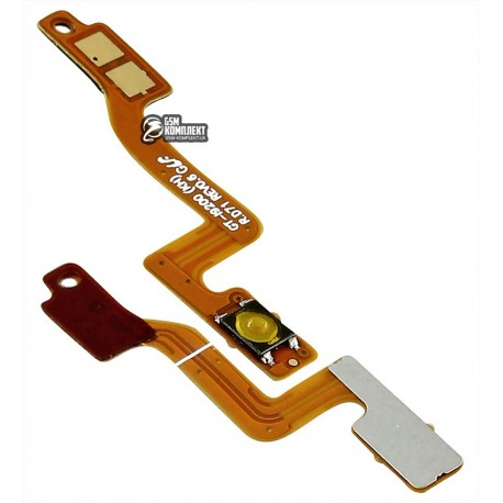 Шлейф для Samsung I9200 Galaxy Mega 6.3, I9205 Galaxy Mega 6.3, кнопки ввімкнення, з компонентами