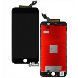 Дисплей iPhone 6S Plus, черный, с рамкой, с сенсорным экраном (дисплейный модуль), high-copy