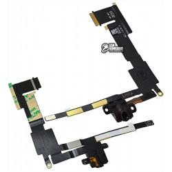 Шлейф для планшета Apple iPad 2, коннектора наушников, с компонентами, (версия Wi-fi)