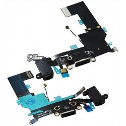 Шлейф для Apple iPhone SE, коннектора зарядки, черный