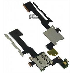 Шлейф для HTC One M9, с коннектором карты памяти