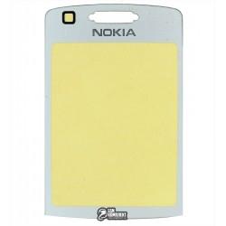 Стекло корпуса для Nokia 6280, серебристое