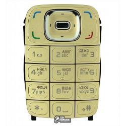 Клавиатура для Nokia 6131, золотистая, русская