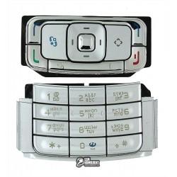 Клавиатура для Nokia N95 2Gb, серебристая, русская