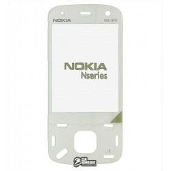 Стекло корпуса для Nokia N86, белый