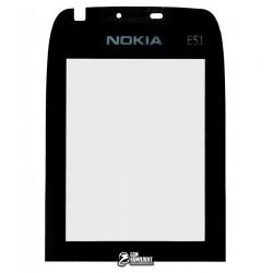 Стекло корпуса для Nokia E51, черный