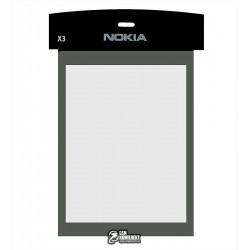 Стекло корпуса для Nokia X3-00, черный