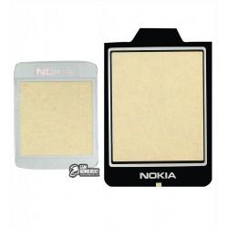 Стекло корпуса для Nokia N90, черный, полный комплект