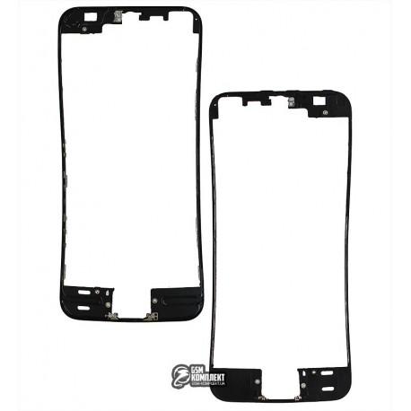 Рамка крепления дисплея для Apple iPhone 5S, iPhone SE, черная