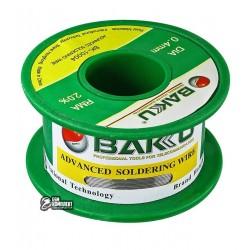 Припой BAKU BK-10004, Sn 97%, Ag 0.3%, Cu 0.7%, flux 2%, 0,4 мм, 30 г
