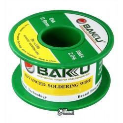 Припой BAKU BK-10006, Sn 97%, Ag 0.3%, Cu 0.7%, flux 2%, 0,6 мм, 30 г