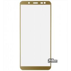 Закаленное защитное стекло для Samsung J600 Galaxy J6 (2018), 0,26 мм 9H, золотое