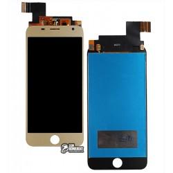 Дисплей для Prestigio MultiPhone 7501 Duo Grace R7, золотистый, с сенсорным экраном (дисплейный модуль)