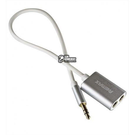 Кабель AUX (Мини-джек - Мини-джек) Remax 3,5 мм Share Jack Cable RL-20S \ Silver