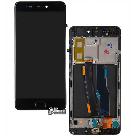 Дисплей для Xiaomi Mi5s, черный, с рамкой, с сенсорным экраном, original (PRC)