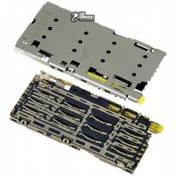 Коннектор SIM-карты для Sony E6683 Xperia Z5 Dual, E6833 Xperia Z5+ Premium Dual, E6883 Xperia Z5+ Premium Dual