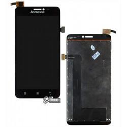 Дисплей для Lenovo S850, черный, с сенсорным экраном (дисплейный модуль)