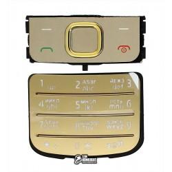 Клавиатура для Nokia 6700c, золотистая, русская