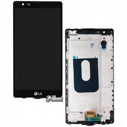 Дисплей для LG X Power K220DS, черный, с рамкой, с сенсорным экраном (дисплейный модуль)