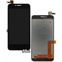 Дисплей для Lenovo A1010 A Plus (A1010a20), черный, с сенсорным экраном (дисплейный модуль)