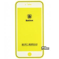 Закаленное защитное стекло Baseus Silk-screen Blue Light 0.2mm для Iphone 6/6S Plus белое
