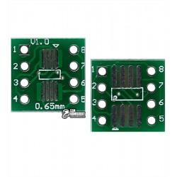 Макетная плата переходник с SO8 MSOP8 SOIC8 TSSOP8 SOP8 на DIP8