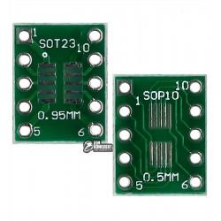 Макетная плата переходник с SOT23 / MSOP10 на DIP10