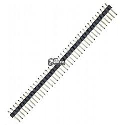 Медный штыревой разъем, однорядный прямой 40 pin, шаг 2.54мм, PLS-40