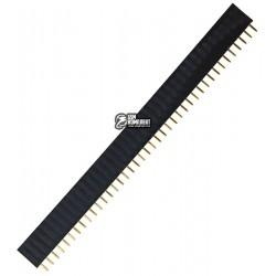 Разъем штыревой мама, шаг 2.54мм однорядный прямой 40 pin, PBS-40
