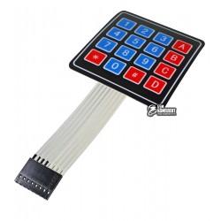 Клавиатура мембранная на 16 кнопок для Arduino